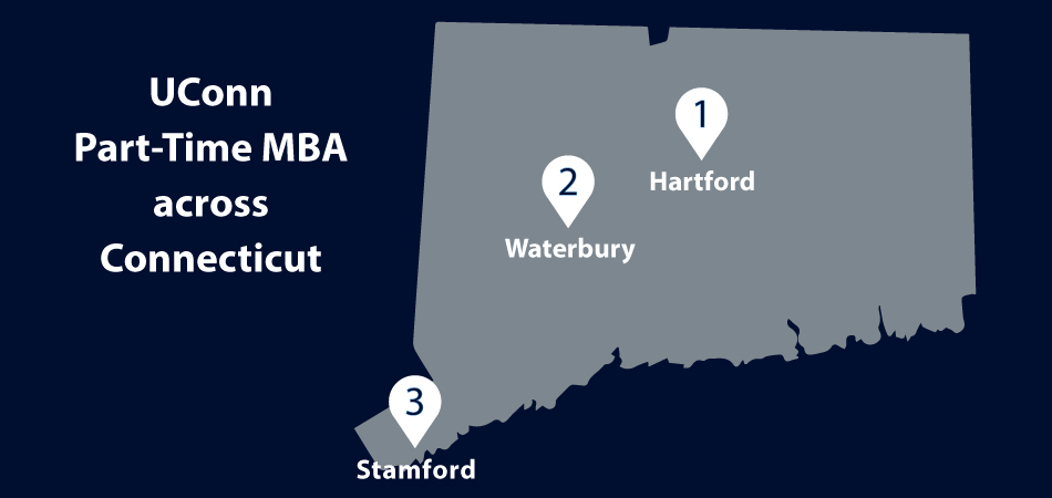 UConn Part-Time MBA across Connecticut: Hartford, Waterbury, Stamford