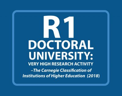 R1 Doctoral University: Very high research activity, The Carnegie Classification of Institutions of Higher Education 2018