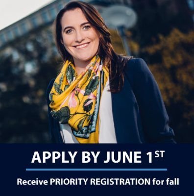 Apply by June 1st, Receive PRIORITY REGISTRATION for fall